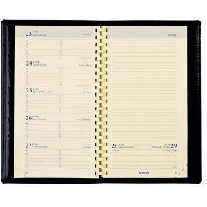 Brepols Agenda semainier Notaplan - format 9 x 16 cm - couverture PVC noire * Attention pré-commande uniquement *