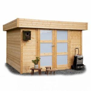 Solid S8323 - Abri de jardin Odense en bois 28 mm avec toit plat 8,64 m2