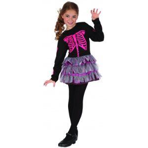 Déguisement squelette rose pour fille (10-12 ans)