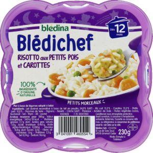 Blédina Bledichef 230g risotto aux petits pois et carottes dès 12 mois