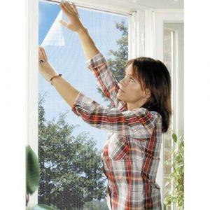 Schellenberg 51003 Moustiquaire élastique pour fenêtres contre insectes/moustiques 130 x 150 cm Blanc