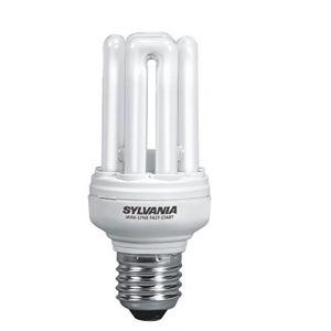 Sylvania Lampe fluocompacte Mini-Lynx Fast-Start T3 E27 15W 2700K - 0035116
