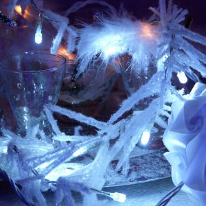 Blachère illumination Guirlande stalactites en feutrine 30 LED (1m80)