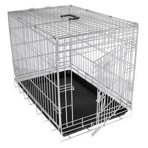 Martin Sellier Cage metal 2 portes 124x76x83cm