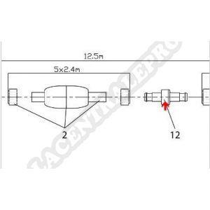 Procopi 1004012 - Raccord tournant de tuyau pour robot Jet Vac