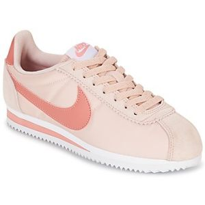 Nike Classic Cortez Nylon, Sneakers Basses Femme, Rouge (Silt Red/Red Stardust-White), 40 EU