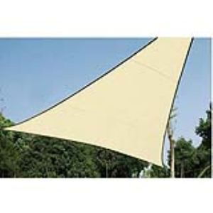 Perel GSS3360 - Voile solaire triangulaire 3,60 x 3,60 x 3,60 m