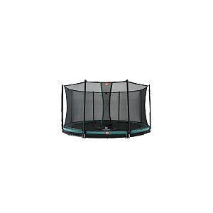 Berg Toys Pack Trampoline enterré Champion - 330 cm - Gris + Filet de sécurité comfort