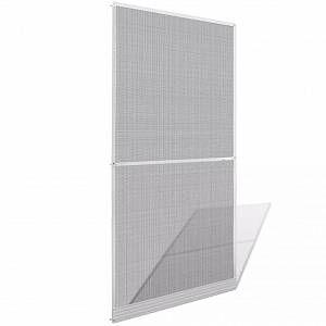 VidaXL Moustiquaire à charnières blanche pour porte 100 x 215 cm