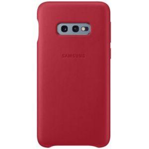Samsung Coque S10E Cuir rouge bordeau