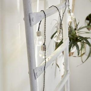 Xanlite Guirlande exterieure 10 Leds verre 5m blanc chaud
