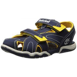 Timberland Active Casual Sandal FTK_Adventure Seeker Closed Toe Sandal, Sandales pour garçon Bleu Bleu Taille 38