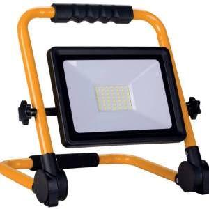 Silamp Projecteur LED 30W pour Chantier IP65 Portable + 3M de câble - Blanc Froid 6000K - 8000K