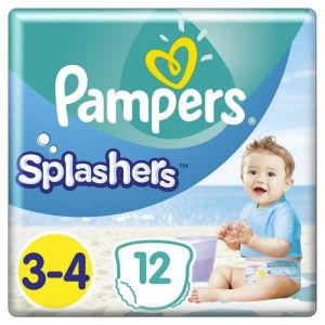 Pampers Splashers taille 3/4 (6-11 kg) - Lot de 8 couches-culottes de bain jetables