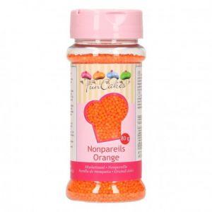 Image de FunCakes Mini perles en sucre oranges