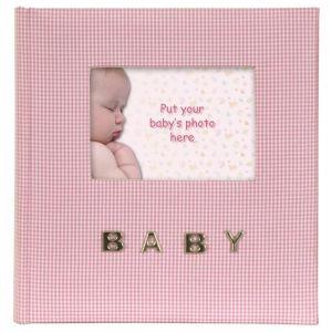 BABY GINGHAM Album photo - 10 x 15cm- Rose - BABY GINGHAM Album photo - 100 pochettes - 10 x 15cm - Rose