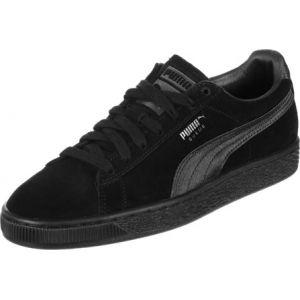 Puma Suede Classic Satin Wn's, Sneakers Basses Femme, Noir Black Aged Silver 01, 37 EU