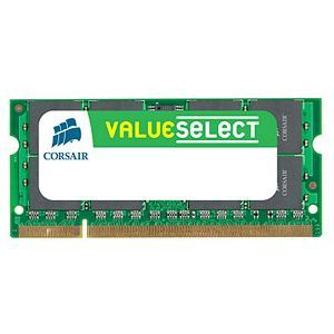 Corsair CM3X4GSD1066 - Barrette mémoire 4 Go DDR3 1066 MHz CL7 SoDimm 204 broches