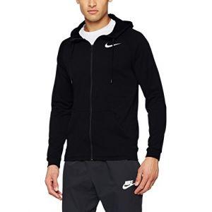 Nike Dry Full Zip Fleece, Veste à Capuche Homme, Noir (Schwarz_465), S