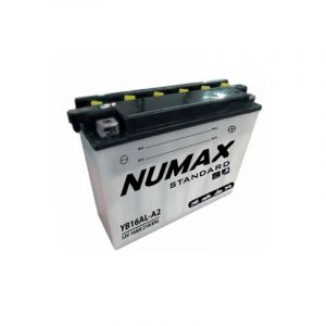 Numax Batterie moto Standard avec pack acide YB16AL-A2 12V 16Ah 210A