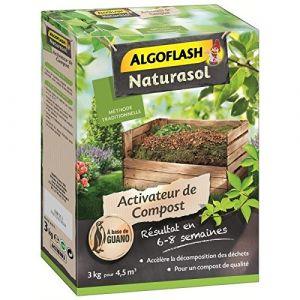 Algoflash NATURASOL Activateur de compost a base de guano - 3 kg - Activateur de compost à base de guano - Permet d'obtenir un compost de qualité en 6 à 8 semaines - 3 kg.