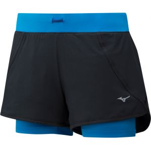 Mizuno Mujin 4.5 - Short running Femme - bleu/noir S Pantalons course à pied