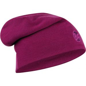 Buff Couvre-chef -- Heavyweight Merino Wool - Solid Raspberry - Taille One Size