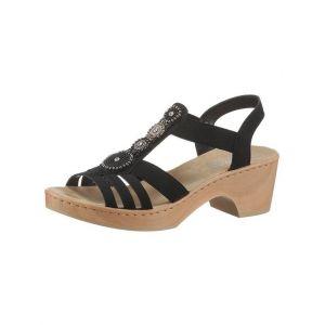 Rieker V28S8 Femme Sandale à lanières,Sandales à lanières,Chaussures d'été,Confortables,schwarz/00,36 EU / 3.5 UK