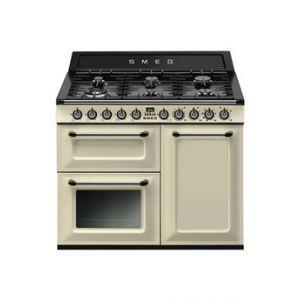 Smeg TR103 - Cuisinière mixte 6 foyers gaz avec four électrique