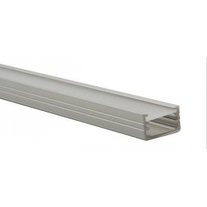 Kanlux Profilé aluminium rectangulaire ruban led - 1 mètre -