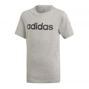 Adidas Boy´s Essentials Linear Tee - T-shirt technique taille 128, gris