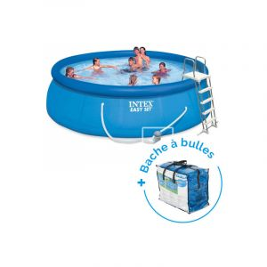 Intex Pack Piscine autoportée Easy Set 4,57 x 1,22 m + Bâche à bulles