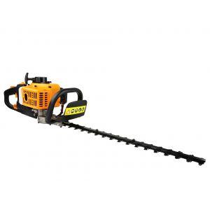 CRAFTIA | Taille haie t rmique à essence 2CV | Lame 550 mm | Poignée rotative ergonomique 90° | Démarrage facile | Outil jardin | Jaune -