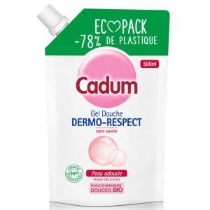 Cadum Dermo-respect - Gel Douche sans Savon à l'Huile d'Amandes Douces Bio - 500 ml