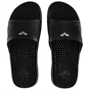 Arena Marco X Grip Hook, Chaussures de Plage et Piscine Homme, Noir (Solid Black 046), 46 EU