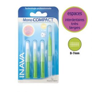 Inava Mono Compact - Brossette interdentaire + 3 recharges 8-7 mm