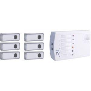 M-e Système d'appel radio pour Sonnette sans fil modern-electronics FRS-106.1 200 m blanc