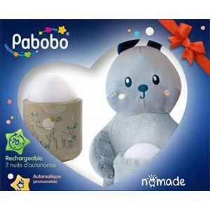 Pabobo Veilleuse portable et son doudou futé