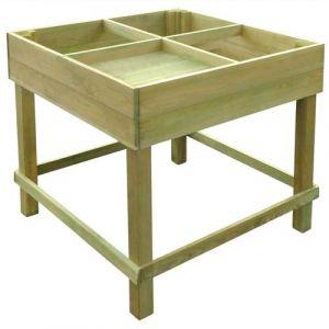 VidaXL Planteuse imprégnés en bois 80 x 80 x 80 cm -