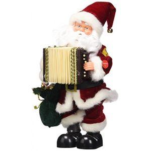 Present Simple 5AUT300RO - Père Noël qui chante en Français (33 cm)