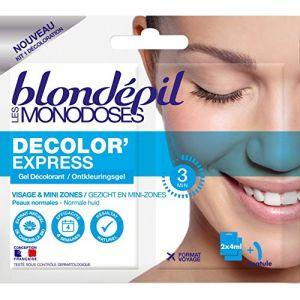 Blondépil Les Monodoses Decolor'Express - Gel décolorant pour visage 2 x 4 ml - Lot de 5