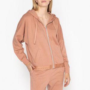 Calvin Klein Sweat à capuche zippé Nude - Taille M