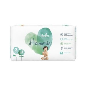 Pampers Couches HARMONIE Taille 3 6-10kg Jumbo Pack 46