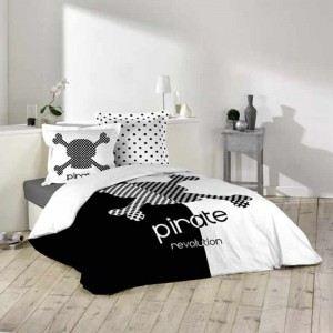 Pirate - Housse de couette et 2 taies 100% coton (220 x 240 cm)