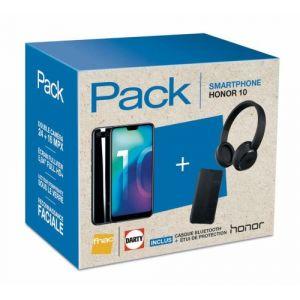 Image de Honor Pack 10 Double SIM 64 Go + Casque Bluetooth iFrogz + Etui de protection