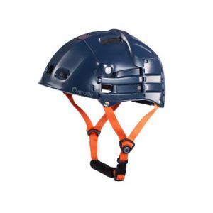 Overade Casque PLIABLE Plixi Fit pour vélo, trottinette électrique, overboard, gyroroue, skateboard, roller, VAE - Norme CE EN1078, même protection qu%u2019un casque classique - Volume divisé par 3 (Bleu, S/M (54-58 cm))
