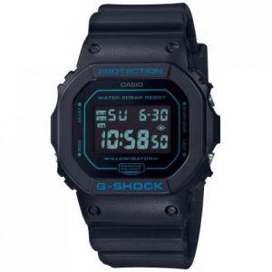 Casio Montre DW-5600BBM-1ER - G-Shock DW Multifonctions Bracelet Résine Bleu Boîtier Résine