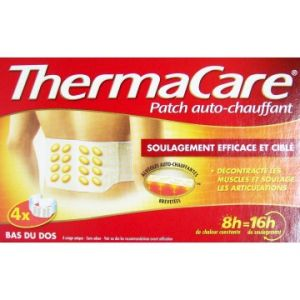 Pfizer Thermacare patch chauffant dos, ceinture - 4 Patchs