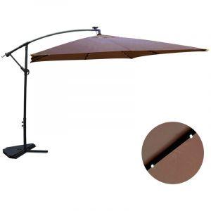 Concept-Usine Solenzara Bulle chocolat : parasol LED déporté 3x3m