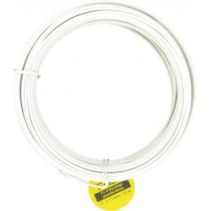 Filiac Corde à linge - Fil plastique blanc - Diamètre 2,75 mm